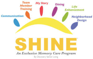 shine memory care is used at the summit senior living