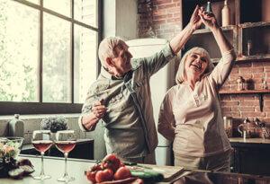 seniors enjoy their senior living amenities